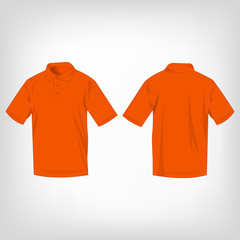 Orange polo shirt isolated vector