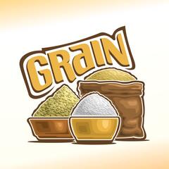 Vector illustration on the theme of grain