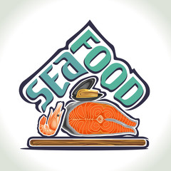 Vector illustration on the theme of seafood