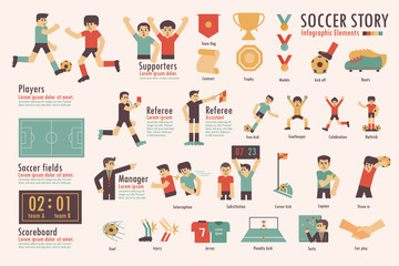 Soccer story,Info-graphic elements.