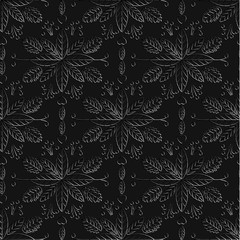 Seamless pattern on a black background. Luxury ornamental templa