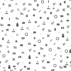 Seamless web icons pattern. Gray icons web sites and blogs.