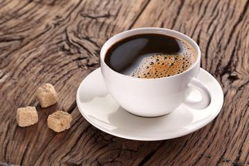 Чашка кофе с сахаром