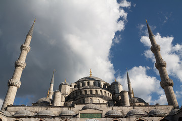 The Blue Mosque with threatening sky, Istanbul, Turkey