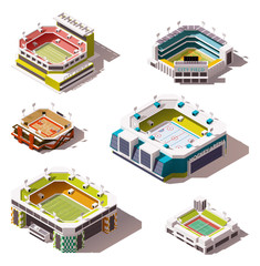 Vector isometric stadiums set