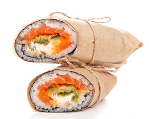 Sushi burrito - new trendy food concept