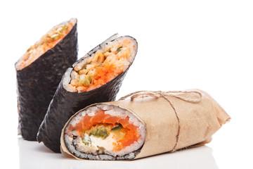 Sushi burrito - new trendy food concept