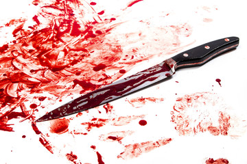 Knife in blood