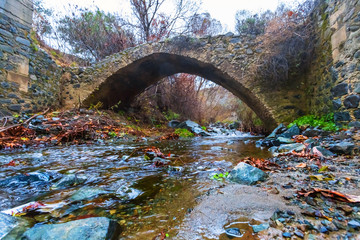cyprus, venetian bridge over a river