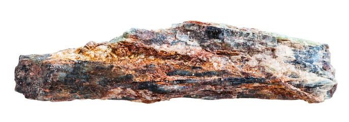 Schist rock with mica and red Aventurine feldspar