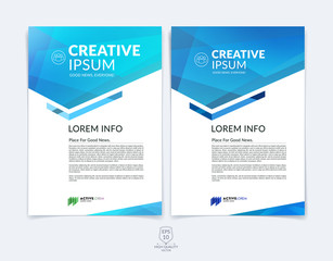 Business brochure, flyer and cover design layout template with b