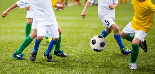 Soccer Football Game for Kids. Horizontal soccer backround.
