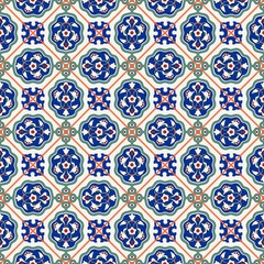Gorgeous seamless  pattern  white Turkish tiles, ornaments.  Can be used for wallpaper, pattern fills, web page background,surface textures.
