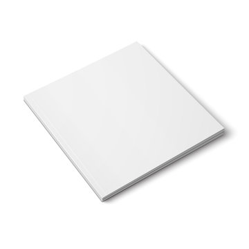Blank thick square magazine template.