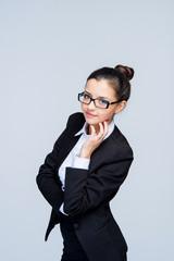 beautiful girl employee of financial institution