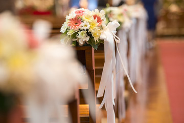 Christian wedding flower and decoration