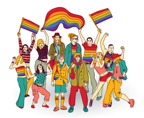 Lgbt people community set isolated group.