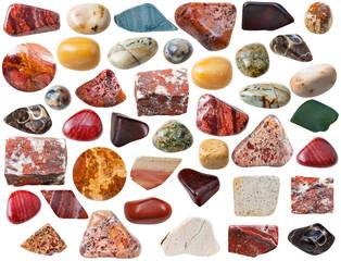 various jasper natural mineral gem stones and rock