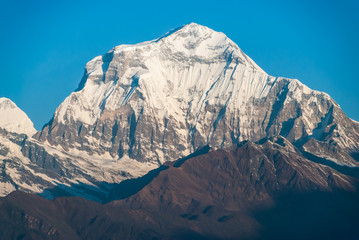 Dhaulagiri Peak in the Nepal Himalaya