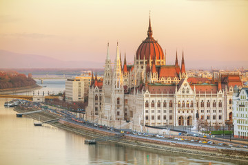 Foto op Canvas Boedapest Parliament building in Budapest, Hungary