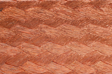 closeup of braided copper wire for background usage