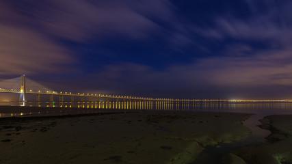 Vasco da Gama Bridge in Lisbon. The longest bridge in Europe