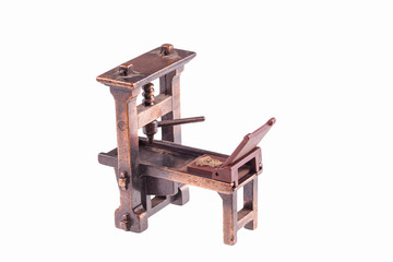 First printing press by Gutenberg-isolated
