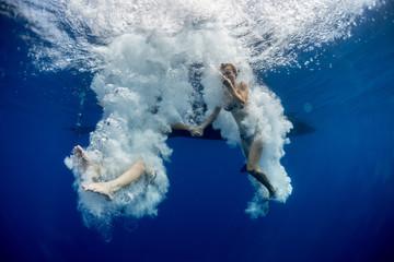 Jump underwater