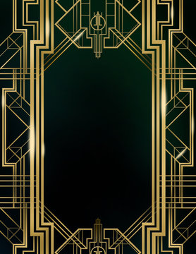 Great Gatsby Art Deco Background