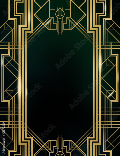 Great Gatsby Art Deco Background Stock Photo And Royalty Free
