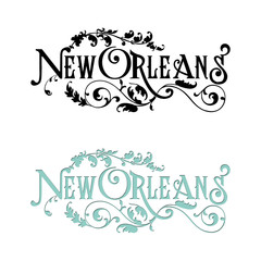 New Orleans Louisiana Word Art