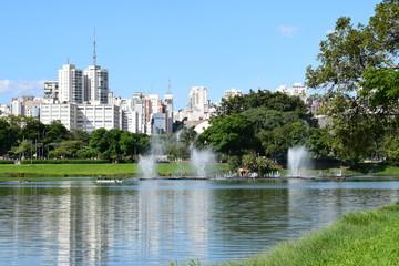 Lagoa na cidade de São Paulo