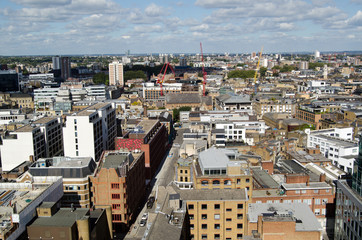 Aerial view of Hackney, London