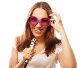 Happy singing girl