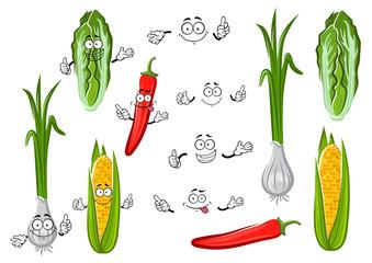 Chilli pepper, corn, onion and cabbage
