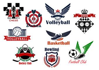 Heraldic emblems and symbols for sport team