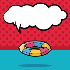 Lifebuoy color doodle, speech bubble