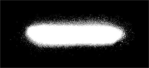 graffiti sprayed line design element in white on black