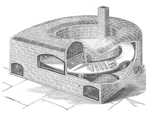 Brick baking over invention