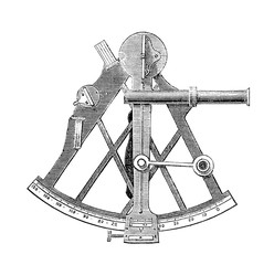 Sextant scientific drawing navigation