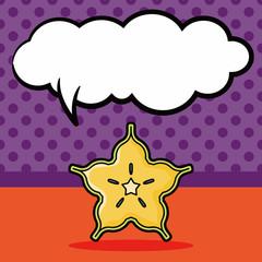 star fruits doodle, speech bubble