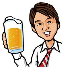 ビールとビジネスマン