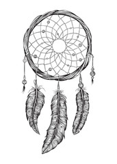 Dream catcher. Hand drawn.