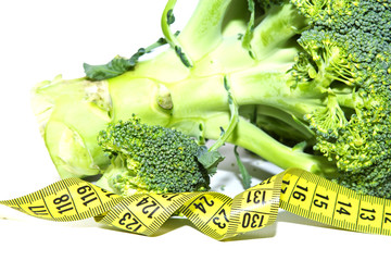 broccoli with tape