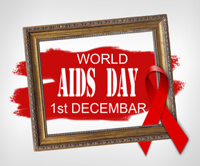 World AIDS DAY 1st December, World Aids Day concept with red ribbon