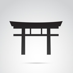 Japan gate vector icon.