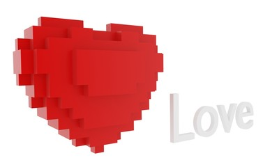 red heart of the blocks