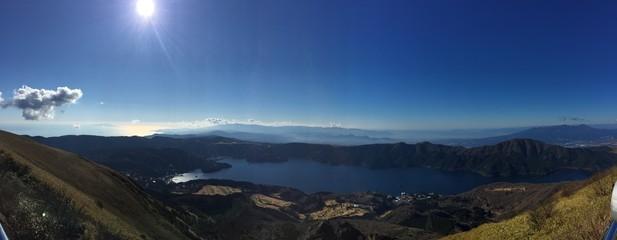 Hakone lake in Japan
