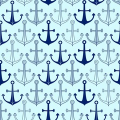 Seamless pattern made of anchors