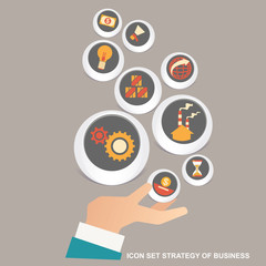 Vector illustration concept for business strategy and industrial planning. Business Plan